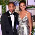 Neymar Jr. et sa fiancée Bruna Marquezine au diner Neymar Jr. Institut à l'hôtel UNIQUE à Rio de Janeiro au Brésil, le 19 juillet 2018.