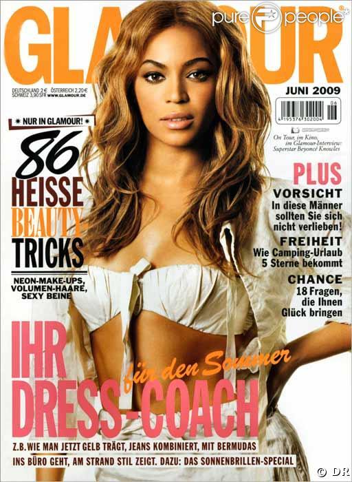 Beyoncé en couverture du magazine Glamour Allemagne