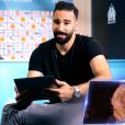 Adil Rami fait une belle déclaration à Pamela Anderson sur le plateau de Danse avec les stars 9 (TF1), le 20 octobre 2018.