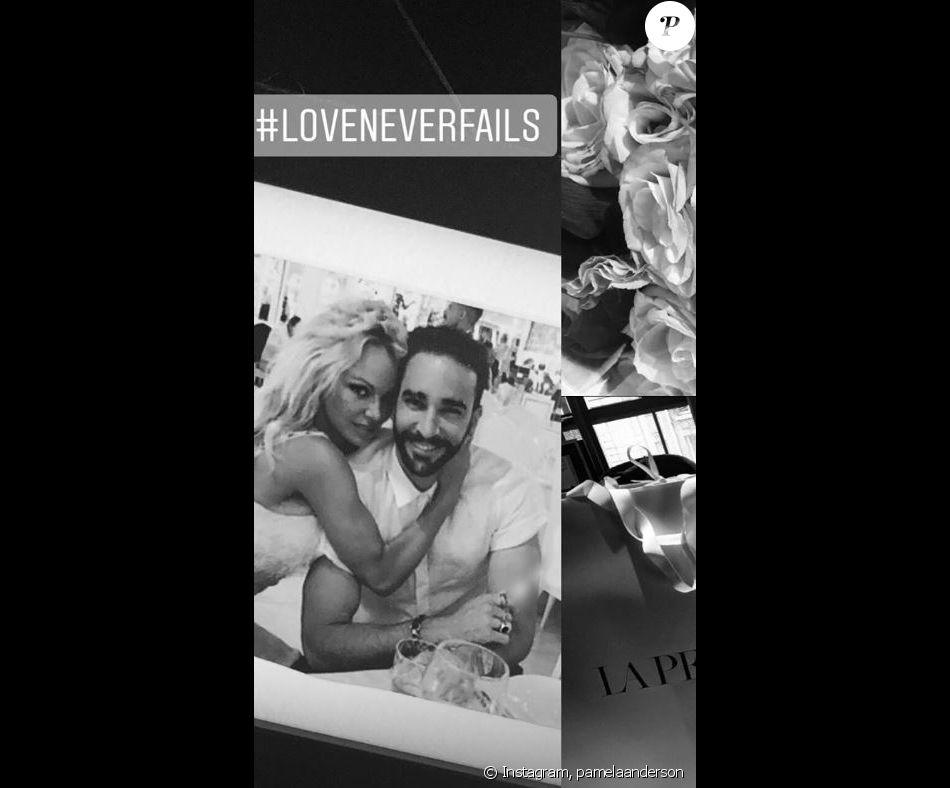 9dc06671466 Pamela Anderson publie une photo d elle et Adil Rami sur Instagram le 27  septembre 2018.