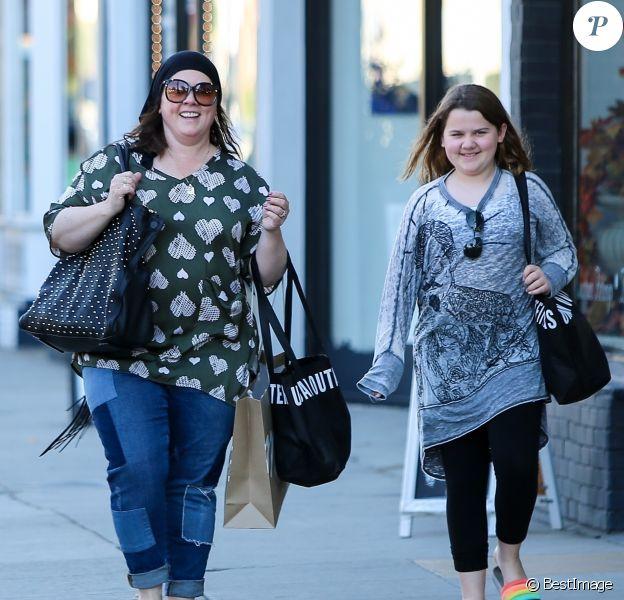 Exclusif - Melissa- McCarthy et sa fille Vivian font du shopping à Studio City le 22 Octobre 2018