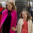 Geri Halliwell Horner et sa fille Bluebell Madonna Halliwell - Arrivées à la messe des jeux du Commonwealth à l'Abbaye de Westminster à Londres. Le 13 mars 2017