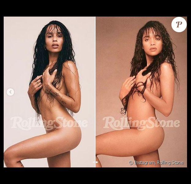 Zoë Kravitz (2018) et sa mère Lisa Bonet (mai 1988) posent nue pour Rolling Stone.