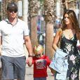 Exclusif - Chris Pratt et sa compagne Katherine Schwarzenegger vont déjeuner avec Jack, le fils de Chris et Patrick, le frère de Katherine à Santa Monica le 21 octobre 2018.
