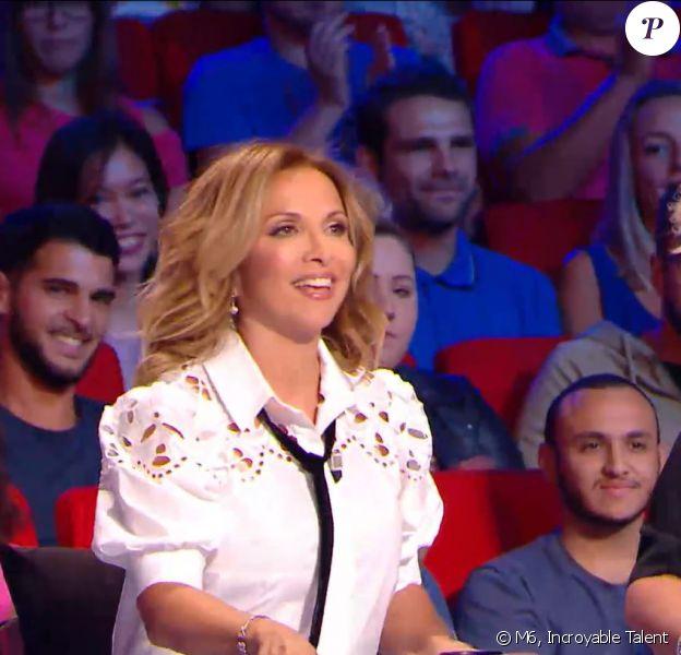 Hélène Ségara dans le premier numéro de la 13e saison de La France a un incroyable talent, sur M6, le 30 octobre 2018.