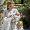 Image du baptême de la princesse Adrienne de Suède, fille de la princesse Madeleine et de Christopher O'Neill, le 8 juin 2018 à Stockholm.