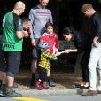 Le prince Harry et Meghan Markle visitent le site Redwoods Treewalk à Rotorua, Nouvelle Zélande le 31 octobre 2018.