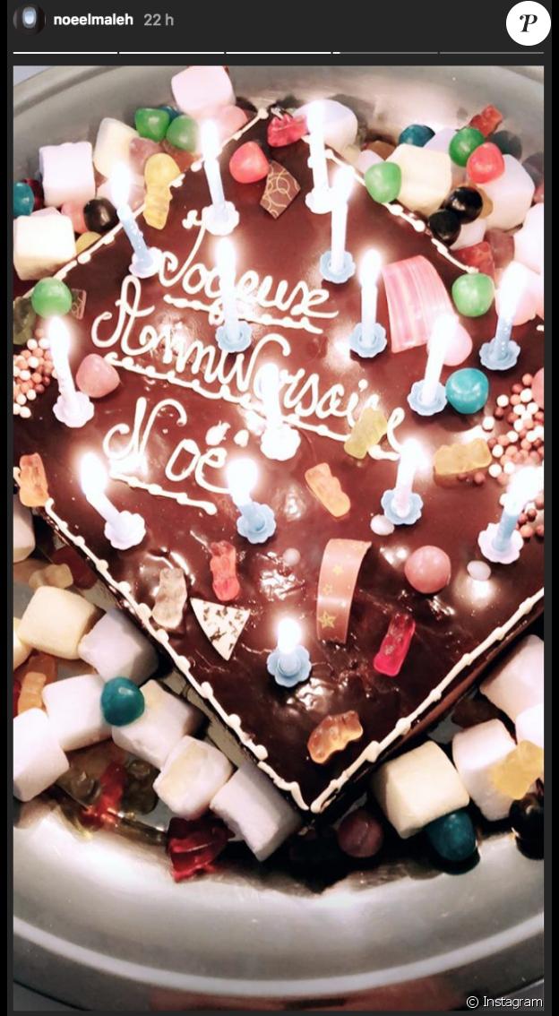 Noé Elmaleh a publié une photo de son gâteau d'anniversaire pour ses 18 ans le 1er novembre 2018