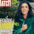 "Jenifer en couverture du magazine ""Paris Match"", numéro du 8 novembre 2018."