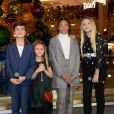 Kids United Nouvelle Génération (Ilyana, Nathan, Valentina, Dylan et Gloria) - Inauguration du Grand Sapin de la Maison Piaget aux Galeries Lafayette Paris Haussmann. Paris, le 7 novembre 2018. © Veeren/Bestimage