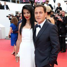 """Eric Besson et sa femme Jamila - Montée des marches du film """"La fille inconnue"""" lors du 69ème Festival International du Film de Cannes. Le 18 mai 2016. © Borde-Jacovides-Moreau/Bestimage"""
