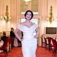 Angela Gheorghiu, épouse de Roberto Alagna, superbe en septembre 2011 pour le lancement de la saison cinéma de l'Opéra de Londres.