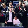 Cristiano Ronaldo, Georgina Rodriguez et Cristiano Ronaldo Junior aux Masters de Londres le 12 novembre 2018.
