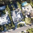 Exclusif - Les flammes se rapprochent de la maison de Laeticia Hallyday à Pacific Palisades le 9 novembre 2018. L'incendie le plus meurtier de la Californie depuis 1993 a déja fait plus de 70 morts.
