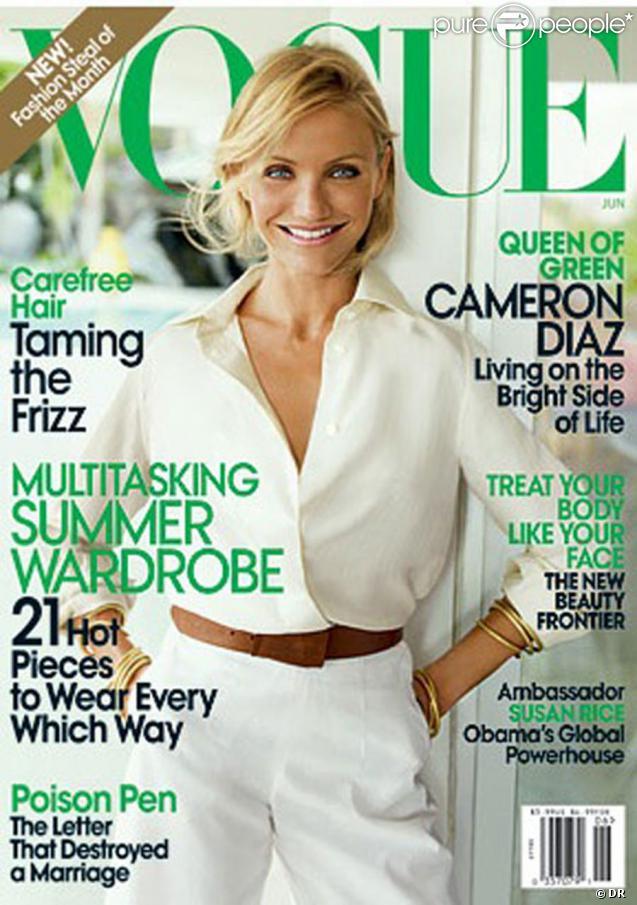 Cameron Diaz en couverture du magazine Vogue de Juin 2009