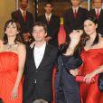 Monica Bellucci, Sophie Marceau, Marina de Van et Andrea di Stefano hier soir lors de la montée des marches à Cannes