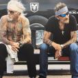 Pierre Billon et Johnny Hallyday en road-trip. Photo publiée en mai 2017 sur le compte Instagram du rockeur.