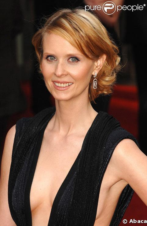 Cynthia Nixon à la première du film Sex and the City à Londres en mai 2008