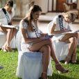 Les candidates au titre de Miss France 2019 ont passé le test de culture générale. Le 24 novembre 2018 à l'île Maurice.