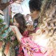Les candidates au titre de Miss France 2019 ont fait une promenade sur un marché avant de passer le test de culture générale. Le 24 novembre 2018 à l'île Maurice.