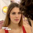 Iris Mittenaere et Anthony Colette durant les répétitions de la finale de Danse avec les stars 9 sur TF1. Novembre 2018.
