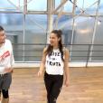 """Clément Rémiens et Denitsa Ikonomova dans """"Danse avec les stars 9"""" sur TF1. Ici, fin novembre, durant les répétitions de la finale."""