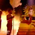 """Iris Mittenaere et Anthony Colette dans """"Danse avec les stars 9"""" sur TF1, le 1er décembre 2018."""