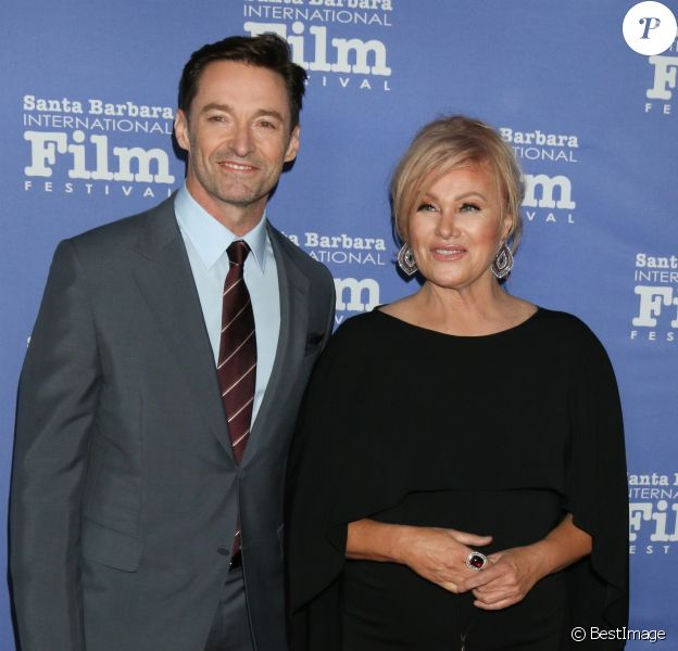 Hugh Jackman et sa femme Deborra-lee Furness - People au 13ème Festival International du Film de Santa Barbara, le 19 novembre 2018.