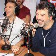"""Exclusif - Jeanfi Janssens (Jean-Philippe Janssens) et Stéphane Plaza lors de l'émission """"Le Show de Luxe"""" sur la Radio Voltage à Paris, France, le 26 novembre 2018."""