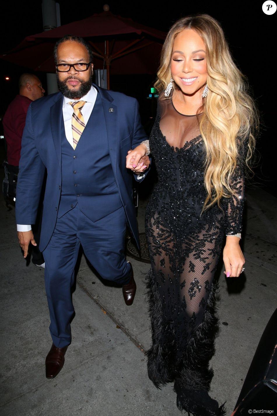 Mariah Carey se rend au restaurant Craig à West Hollywood le 9 octobre 2018.