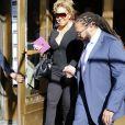 Mariah Carey avec son compagnon Bryan Tanaka et ses enfants Moroccan et Monroe, sort de son appartement à New York, le 19 août 2017.