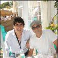 Joel Cantona et Patrick Bosso à la plage Vitamin Water à Cannes le 18 mai 2009