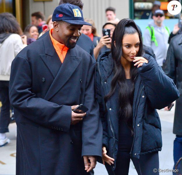 Kim Kardashian et Kanye West à New York le 3 décembre 2018.