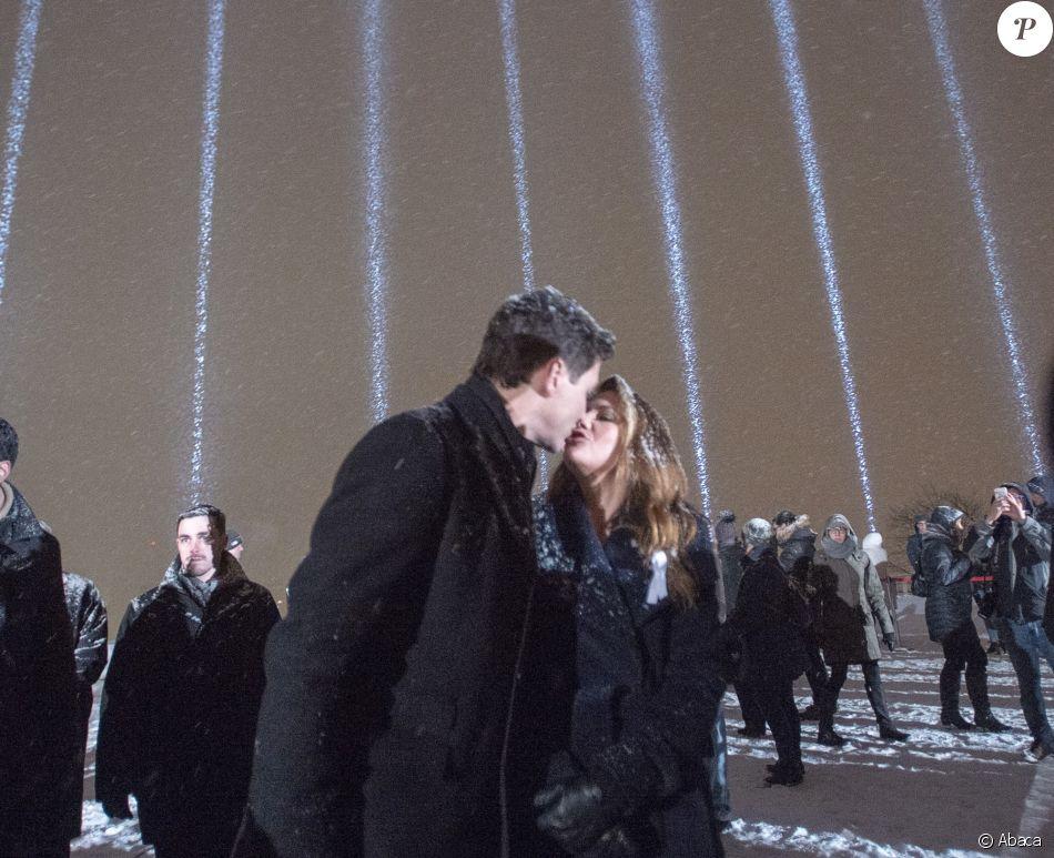 Le premier Justin Trudeau, accompagné de sa femme Sophie Gregoire Trudeau, a participé à une cérémonie d'hommage aux victimes de l'Ecole Polytechnique, le 6 décembre 2018 à Montréal.