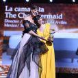 Sonia Okacha, Lila Aviles (prix du jury pour The Chambermaid) lors de la cérémonie de clôture du 17ème festival du film de Marrakech (FIFM 2018) le 8 décembre 2018. © Denis Guignebourg / Bestimage