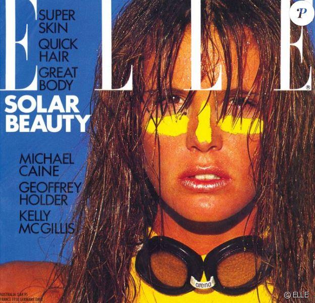 Elle Macpherson en couverture du magazine ELLE. Juin 1986.