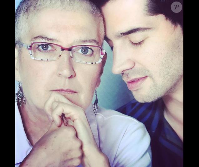 Mathieu Johann et sa maman, un cliché dévoilé le 16 mai 2018.