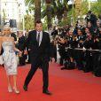Doug Reinhardt et Paris Hilton lors de la montée des marches avant la projection d'Inglourious Basterds, au Festival de Cannes, le 20 mai 2009