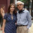 Woody Allen et sa fille Manzie Tio sur le tournage du nouveau film du réalisateur à New York. Le 21 septembre 2017