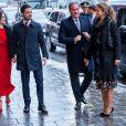 Le prince Carl Philip, la princesse Sofia, la princesse Madeleine de Suède et Christopher O'Neill au théâtre Oscar à Stockholm le 18 décembre 2018 pour la célébration du 75e anniversaire de la reine Silvia.