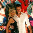Paris Hilton (ici avec son homme Doug Reinhardt) était rayonnante pour la soirée anniversaire de Christian Audigier !