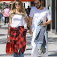 Exclusif - Heidi Klum et son compagnon Tom Kaulitz sont allés déjeuner en amoureux au restaurant Il Pastaio à Beverly Hills. Le 1er octobre 2018