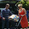 Jason Priestley, sa femme Naomi Lowde et leur fille Ava