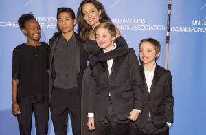 Angelina Jolie, fière de ses six enfants :