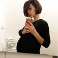 Daniela Martins enceinte de son deuxième enafnt, le 13 novembre 2018.