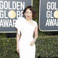 Sandra Oh au photocall de la 76ème cérémonie annuelle des Golden Globe Awards au Beverly Hilton Hotel à Los Angeles, Californie, Etats-Unis, le 6 janver 2019.