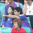 Charlotte Gainsbourg et Yvan Attal lors d'un match de foot de la coupe du monde en 2006