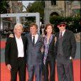Richard Gere, Todd Haynes, Charlotte Gainsbourg et Heath Ledger pour la promotion de I'm not there en 2007