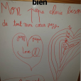 L'adorable mot de la petite Jazz (6 ans) pour son papa Camille Lacourt, le 8 janvier 2019 sur Instagram.