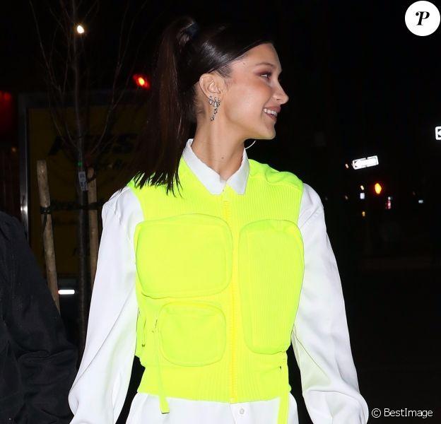 Bella Hadid et Jesse Jo Stark arrivent au dîner Chrome Hearts & Louis Vuitton à New York, le 9 janvier 2019.